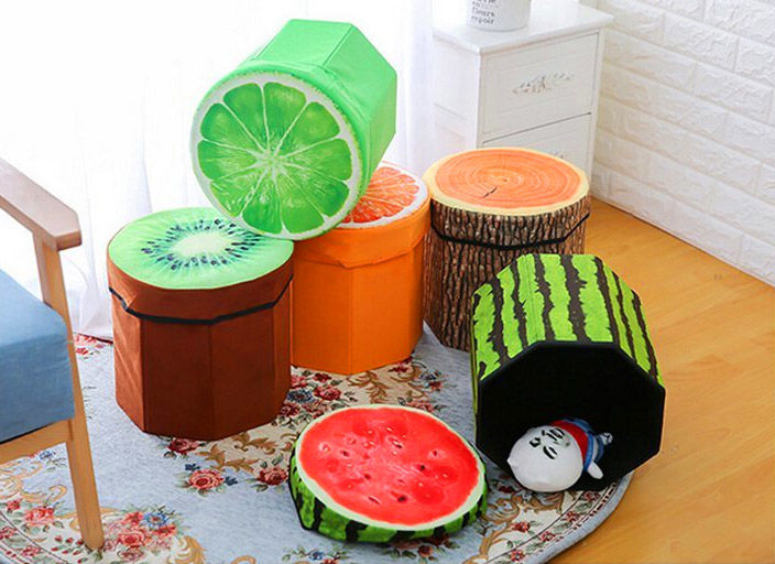 Fruity Home Storage Stools