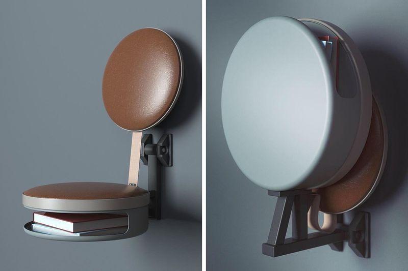 Wall-Mounted Storage Seating