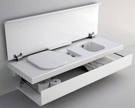 Portable Mulasking Washrooms Fold