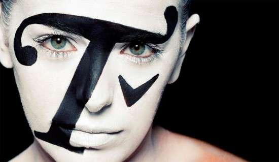 Typography-Painted Faces