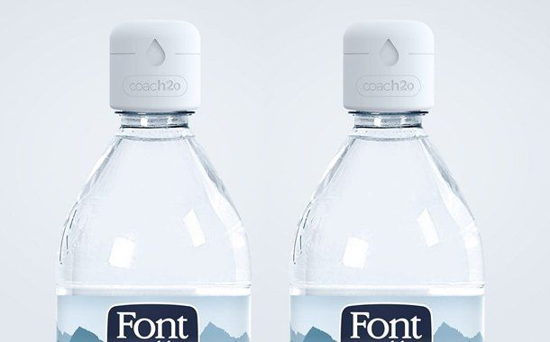 Hydration-Coaching Bottle Caps