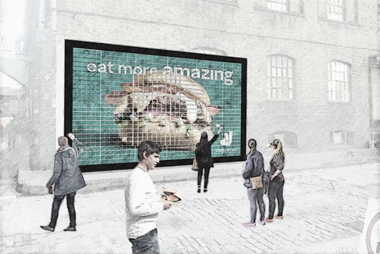 Edible Burger Billboards