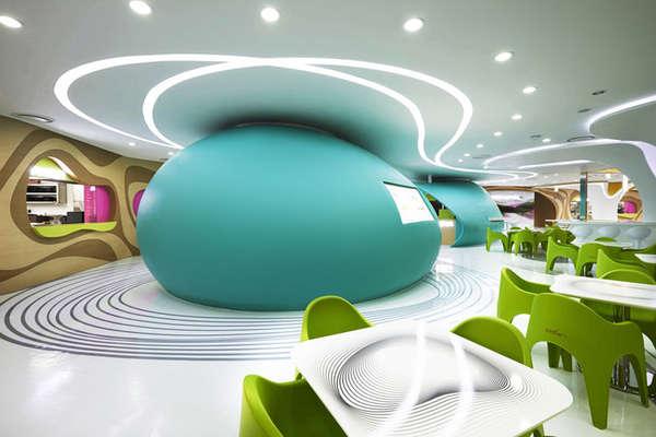 Curvy Cafeteria Designs