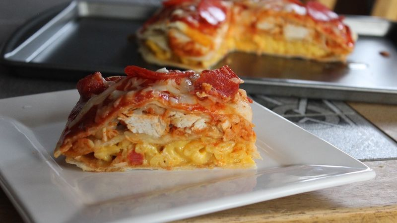 Macaroni Pizza Quesadillas