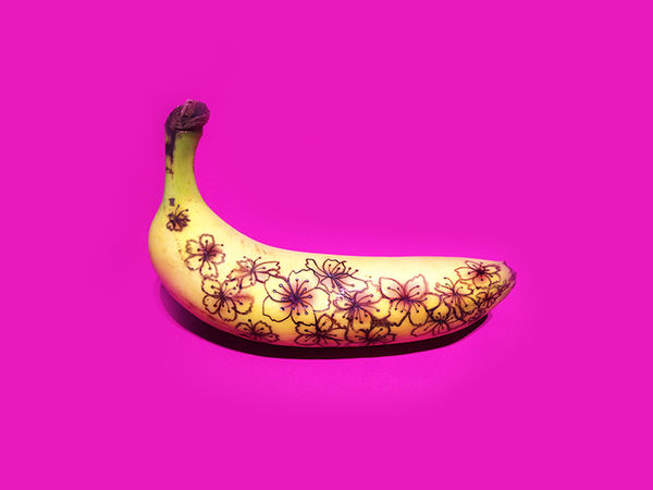 Edible Banana Graffiti