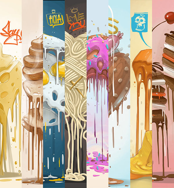 Melting Meal Illustrations
