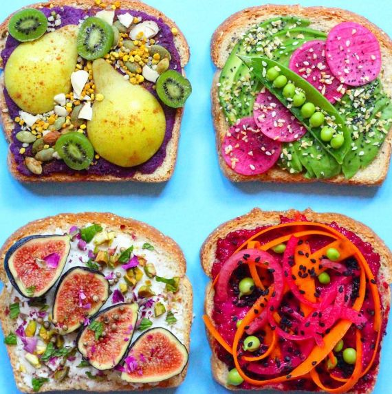 Multicolored Toast Art
