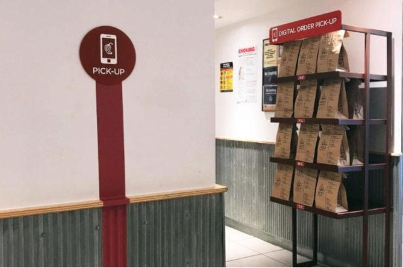 Food Order Pickup Shelves