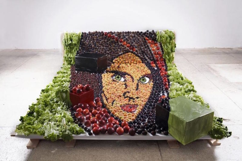 Anamorphic Food Portraits