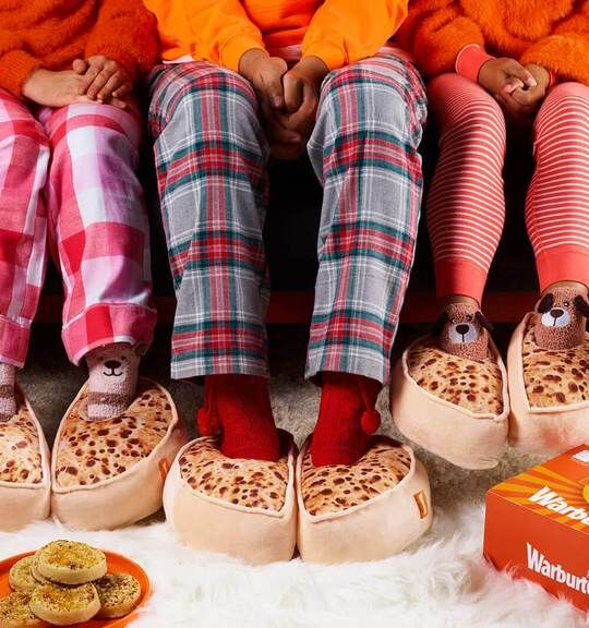 Crumpet-Shaped Slippers