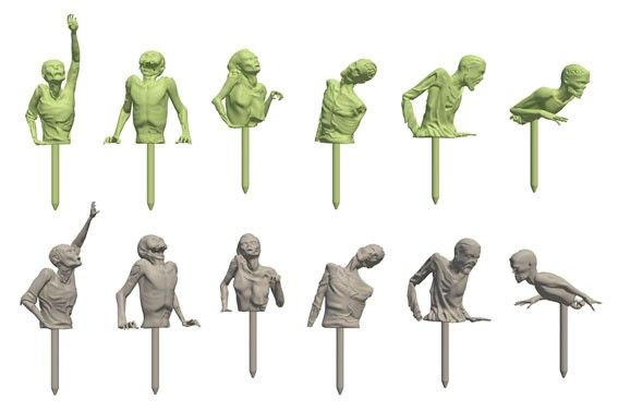 Spooky Zombie Skewers