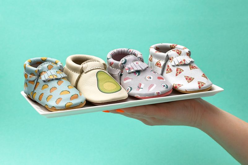 Food-Themed Baby Moccasins