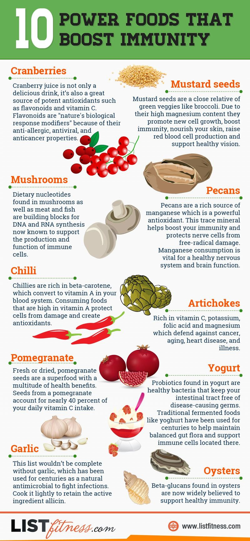 Immunity Boosting Food Graphs Foods That Boost Immunity
