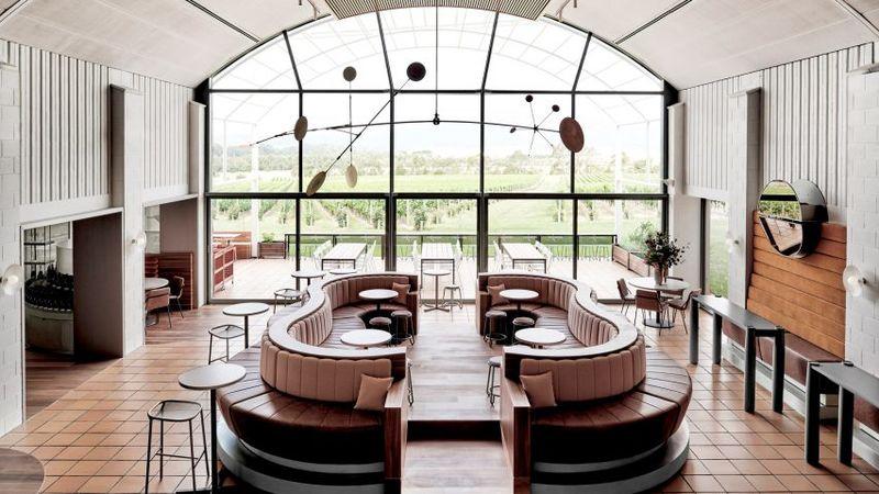 Chic Wine-Inspired Bar Interiors
