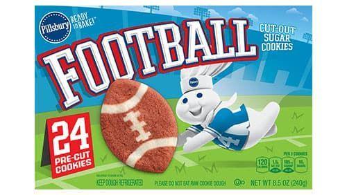 Football-Shaped Sugar Cookies