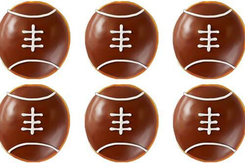 Football-Themed Doughnuts