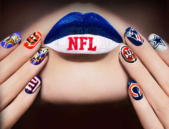 Nfl Inspired Nail Designs Football Nails
