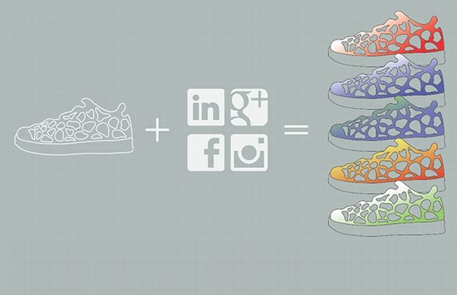 Social Media-Connected Sneakers