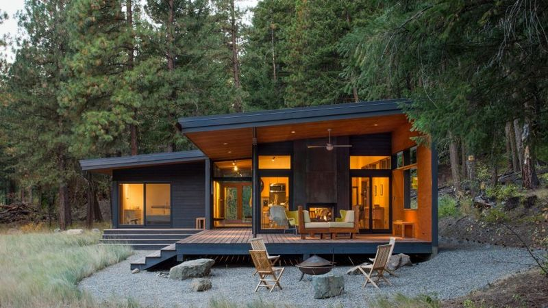 Modestly Built Forest Cabins