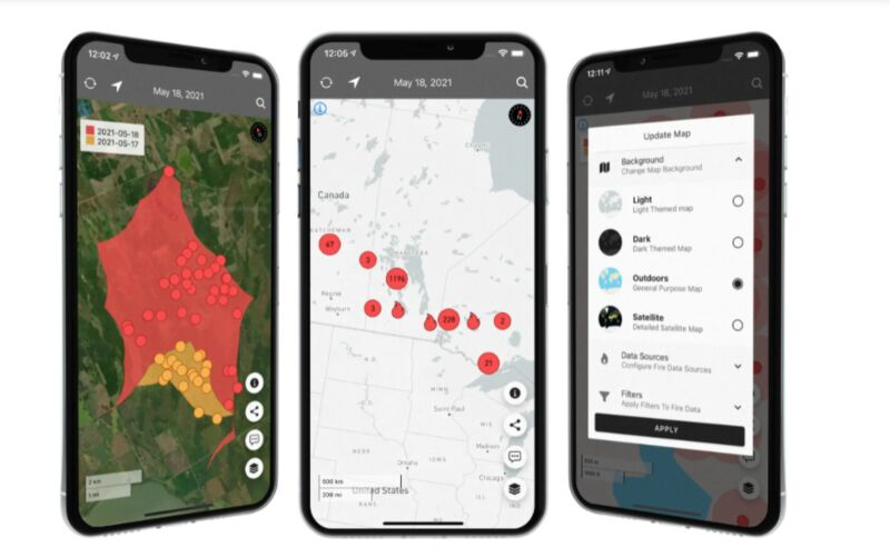 Forest Fire-Monitoring Apps