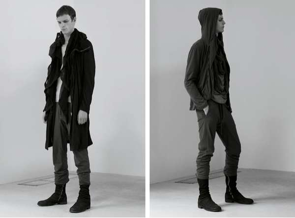 Draped, Shrouded Menswear