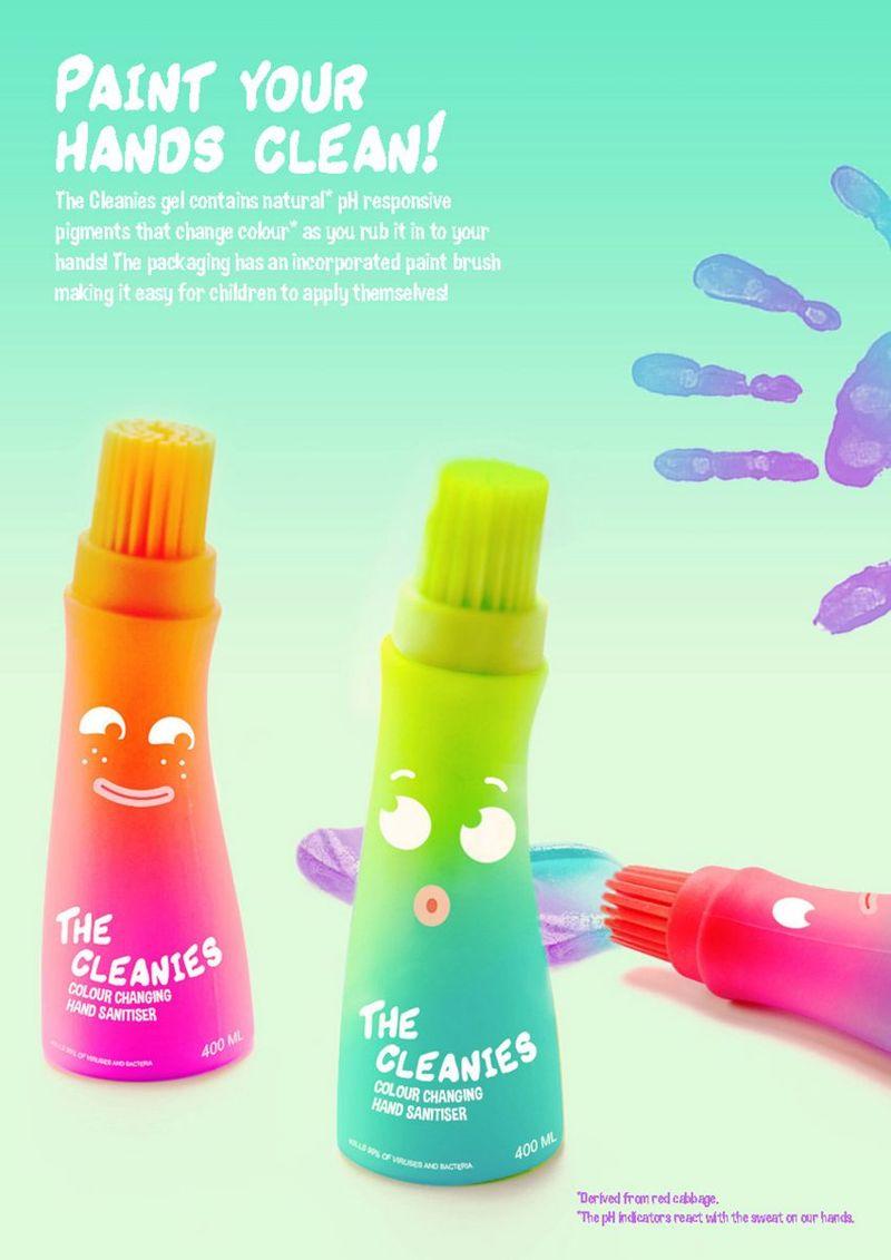 Brush-On Hand Sanitizers