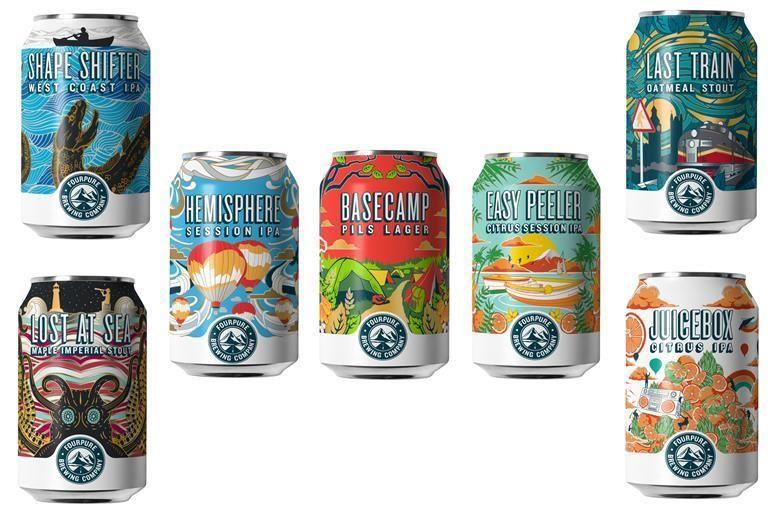 Vibrantly Rebranded Craft Beers