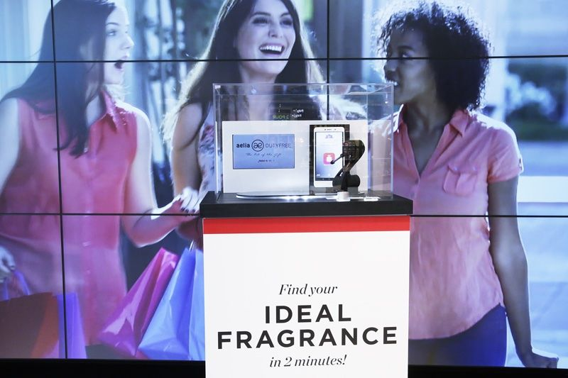In-Airport Fragrance Kiosks