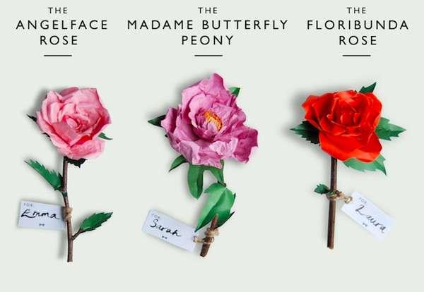 Faux Paper Flowers