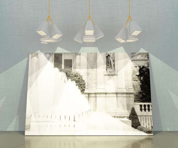 Asymmetrical Pyramid Lamps