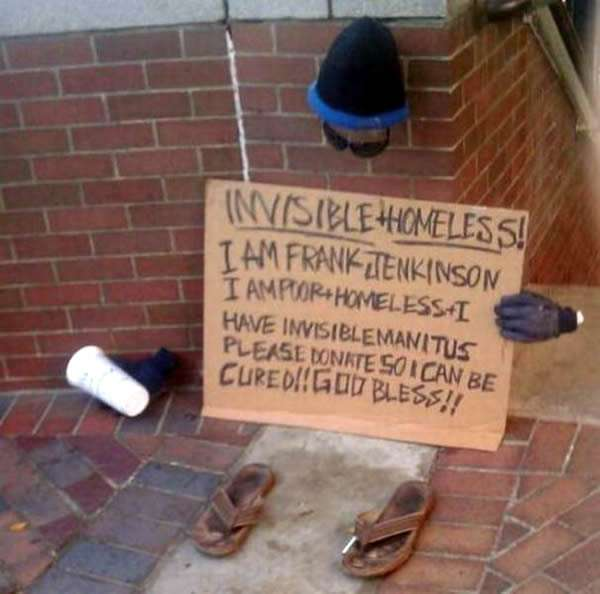 Witty Homeless Signs