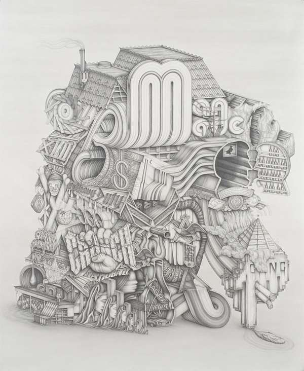 Typographic Architecture Artwork