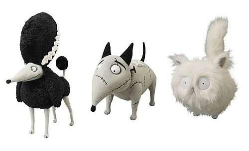 Spooky Scarred Pet Plushies Frankenweenie Plush Set