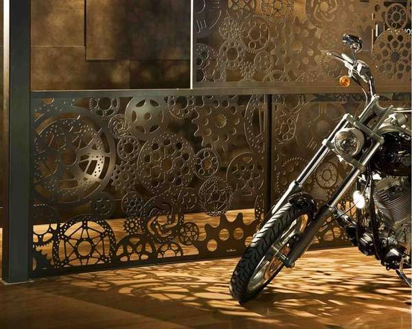 Laser-Cut Bike Displays