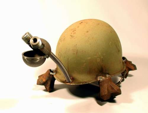Army Helmet Art