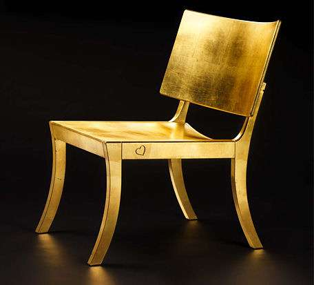 Eco-Friendly Golden Chair