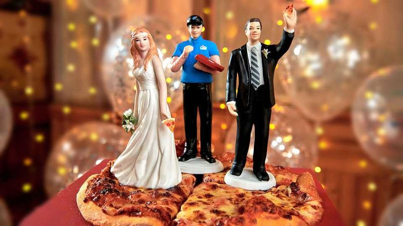 Celebratory Wedding Pizzas