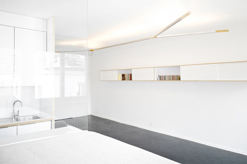 Minimalist White-Washed Apartments