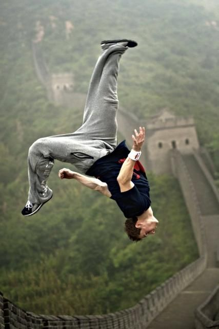 Acrobatic Landmark Photography