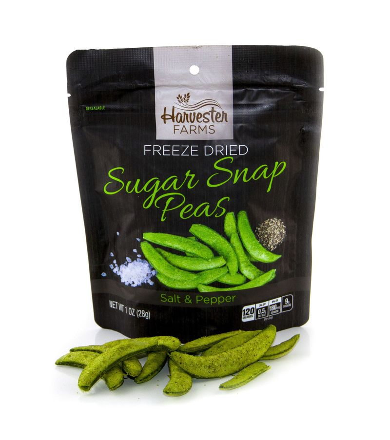Savory Freeze-Dried Pea Snacks