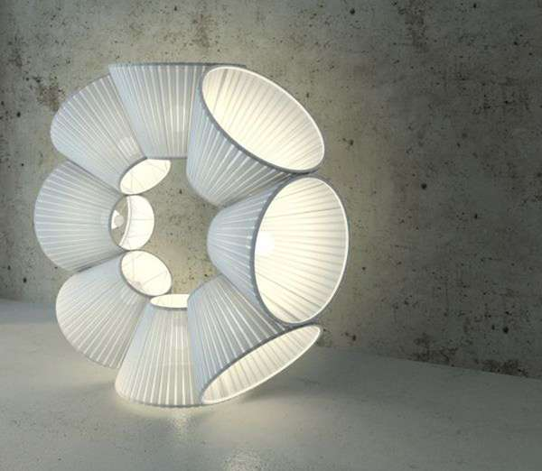 Circular Lampshade Lights