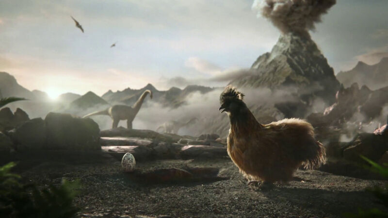 Time Travelling Chicken Ads