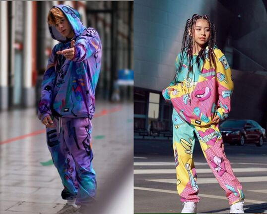 Colorful Bold Printed Sweat Sets