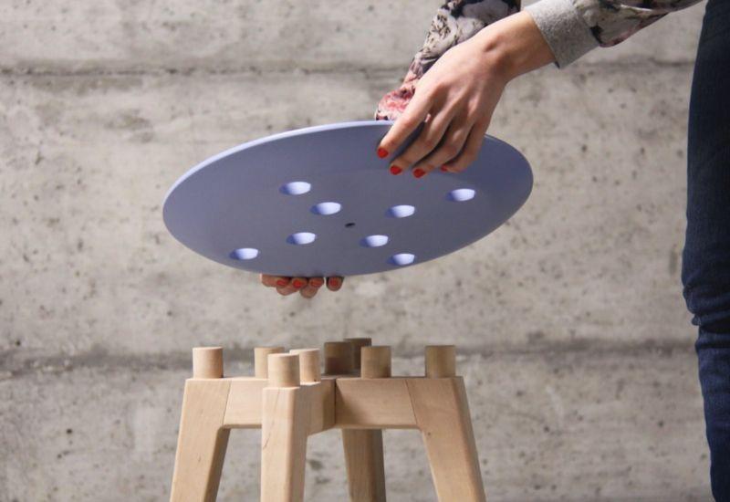 Marvelous Multipurpose Flat Pack Stools Frida Stool Theyellowbook Wood Chair Design Ideas Theyellowbookinfo