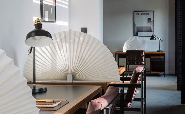 Pleated Fan Privacy Shades