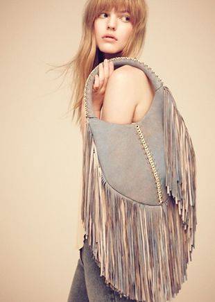 Dramatically Fringed Bags