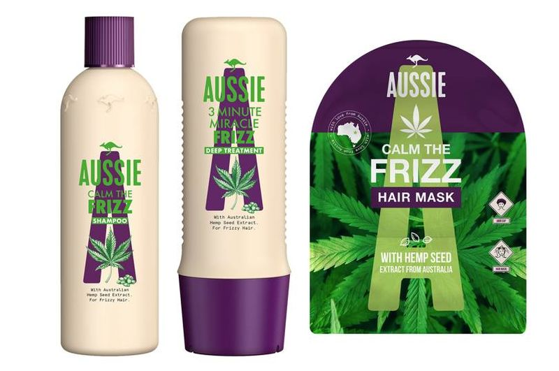 Frizz-Fighting Hemp Haircare - Aussie's Hemp Calm The Frizz Collection Tames Hair in Humid Weather (TrendHunter.com)