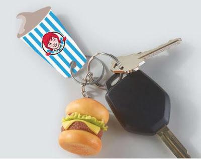 Fast Food-Branded Keychains