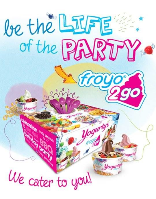 Frozen Yogurt Catering Boxes
