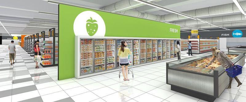 Graphic Frozen Food Aisles